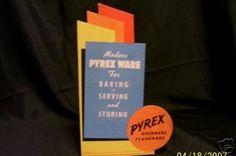 Vintage Pyrex Cardboard Store Display PYREX ADVERTISING STORE DISPLAY