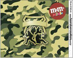 Mini M&M Kit Militar Camuflado