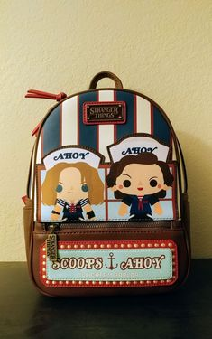 Loungefly Stranger Things Scoops Ahoy on Mercari Stranger Things Aesthetic, Cast Stranger Things, Stranger Things Netflix, Mochila Jansport, Stranger Things Merchandise, Starnger Things, Cute Mini Backpacks, Mini Mochila, Circus Baby