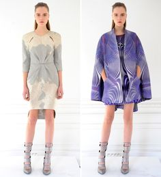 Two looks from Arzu Kaprol's Fall 2013 collection