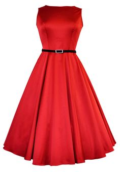The Red Hepburn Dress