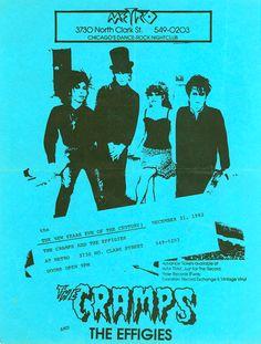 The Cramps + The Effigies @ Club Metro, Chicago (1982-12-31)