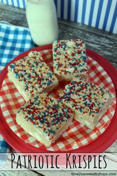 Patriotic Krispies {
