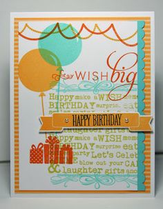 what, me blog?: a Make it Monday Happy Birthday collage elements card inspiration PTI