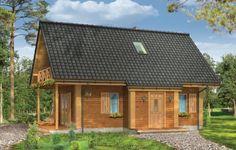 Prezentowany domek - projekt Sosenka 4, to wersja wariantowa projektu Sosenka. Budynek może pełnić funkcję całorocznego lub letniskowego. Dom został zaprojektowany w konstrukcji szkieletowej drewnianej. Jego prosta bryła zapewnia szybką i ekonomiczną budowę. Domek składa się z przestrzeni dziennej na parterze, z kuchnią, łazienką, gankiem wejściowym, pomieszczeniem gospodarczym.