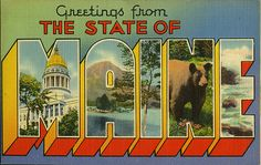 postcard - Greetings from Maine by Jassy-50, via Flickr
