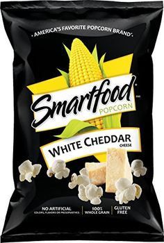SMARTFOOD® White Cheddar Cheese Flavored Popcorn - perfect first-apartment snack White Cheddar Popcorn, Cheese Popcorn, Popcorn Snacks, Flavored Popcorn, White Cheddar Cheese, Frito Lay Chips, Smartfood Popcorn, Gourmet Recipes, Recipes