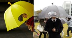 Yellow Submarine Goggles Umbrella Covers Your Head, Lets You Peek Out Too
