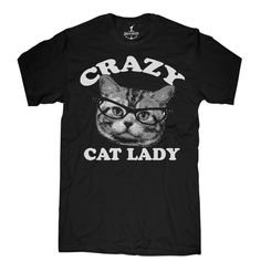 Crazy Cat Lady Tee Men's Black, $21, now featured on Fab.