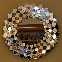 Wall Mirrors Entryway, Mirror Wall Art, Mirror Mosaic, Diy Mirror, Mosaic Art, Mosaic Glass, Glass Art, Fancy Mirrors, Mirror Crafts