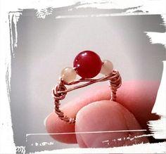 Wireworked ring... Ring aus Achaten und Kupferdraht