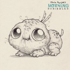 Mischievous pup.  #morningscribbles