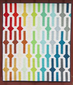 Belts & Buckles Quilt Pattern from Rebel Craft Media Quilting Projects, Quilting Designs, Quilt Design, Rainbow Quilt, Jellyroll Quilts, Strip Quilts, Contemporary Quilts, Flying Geese, Small Quilts