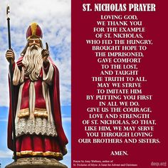 Happy Feast of St. Nicholas! Learn more about this holy bishop, remembered for his legendary charity and as a tireless defender of the faith and his people, by reading this Catholic Update article: http://s.dosp.org/1gJDByu.   St. Nicholas, pray for us!