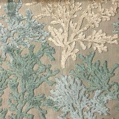 Reef  Laguna  Coral Pattern Cut Velvet Home Decor by TopFabric