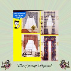 Simplicity Sewing for Dummies Window Treatments, Valence, Swags, Draperies and Tie Backs, Simplicity Sewing Pattern 0745 by TheGrannySquared on Etsy