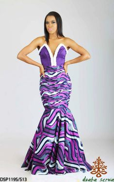 Duaba serva robe en pagne africain, kitenge  and ankara dress