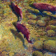 iris scott finger painting | Wow → Iris Scott – Painting With Fingers