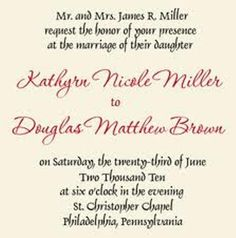 Wedding Invitation Wording Samples Wedding invitation wording