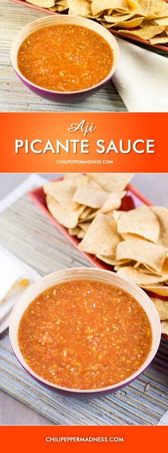 Aji Picante Sauce - a Picante Style Hot Sauce made with sweet and spicy aji chili peppers.