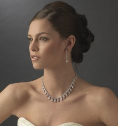 Dazzling Cubic Zirconia Wedding Jewelry Set - Affordable Elegance Bridal -