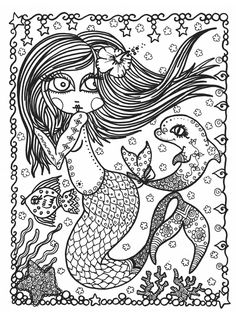 Mermaid Wonders: A Mindful Coloring Book for Adults: N/A, Deborah Muller: 9781631406447: Amazon.com: Books