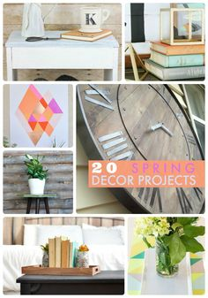 20 Spring Decor Projects at Tatertots and Jello!! So many cute ideas!