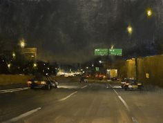 The Long Island Expressway ~ A Nocturne by Paul Bachem Limited Edition Print ~ 12 x 16