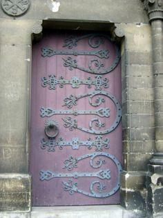 The Doors - Steampunk Cat Knobs And Knockers, Door Knobs, Door Handles, Cool Doors, Unique Doors, Purple Door, Turquoise Door, When One Door Closes, Door Gate