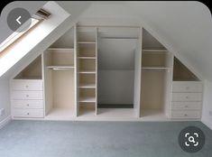 Small Attic Room, Attic Loft, Loft Room, Attic Spaces, Closet Bedroom, Diy Bedroom, Small Rooms, Small Spaces, Trendy Bedroom