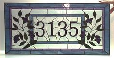 Custom Made Stained Glass Transom - Traditional Floral