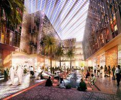 """""""Em construção a poucos quilómetros da cidade de Abu Dhabi, Masdar é um oásis para qualquer ambientalista e um pólo de atracção empresarial da economia verde. Mais do que formar cidades desprovidas de emoções, como em Alphaville, a tecnologia de hoje permite que os centros urbanos sustentáveis do amanhã saiam do papel."""""""