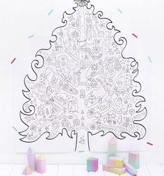 Óriás karácsonyfa (22 lapos) és még több színező egy helyen