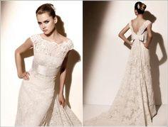 Vestido de noiva moderno.