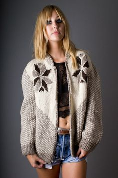 90s Vintage Open Front Starburst Pattern Sweater by TelltaleHearts, $65.00