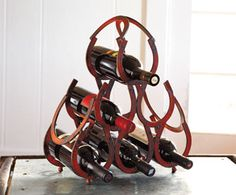 Horseshoe Wine Rack Great addition to our electric wine opener ;)