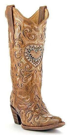 Boots for the two-step Womens Sand Maipo Crystal Heart Corral Boots Kids Cowboy Boots, Kids Boots, Cowgirl Boots, Western Boots, Western Wear, Cowgirl Chic, Cowgirl Style, Cute Shoes, Me Too Shoes