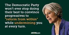 #DemExit #GoGreen2016 #SteinBaraka compare Dem Platform to Jill's!