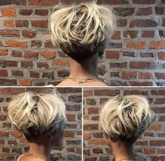 Short Stacked Hairstyles Amusing Beautiful Undercut Pixie Bowl Cut Thanks Lavieduneblondie #ucfeed