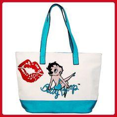 c7bd4b8a3e4f Licensed Betty Boop Canvas Tote School Shoulder Bag Purse KF-2001 - Shoulder  bags (