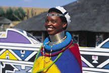 Although the origins of the South African Ndebele are shrouded in mystery, they have been identified as one of the Nguni tribes. The Nguni tribes African Artists, African Tribes, African Beauty, African Fashion, I Am An African, African Wear, Warrior Concept Art, Neck Rings, Africa Art