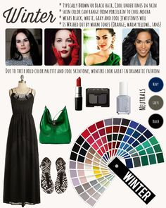 Winters can have a lot of fun being dramatic with their colors and fashion since… – Care – Skin care , beauty ideas and skin care tips Rock Chic, Grunge, Cool Undertones, Deep Winter, Rocker, Winter Wear, Mustard Yellow, Wearing Black, Black Hair