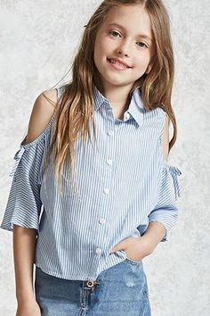 Girls Pinstripe Shirt (Kids)