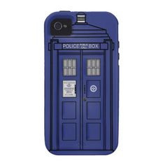 Blue London Call Box Vintage Police Box iPhone 4 Case  #tardis #drwho