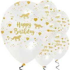 Unicorn Sparkle Balloons - Latex (Pack of Pastel Balloons, Mini Balloons, Gold Confetti Balloons, White Balloons, Rainbow Balloon Arch, Disney Princess Belle, Style Deco, Unicorn Party, Latex