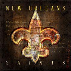 New Orleans Saints - Retro City Map - Christmas, Birthday, Anniversary Gift - Unframed Prints on Etsy, $22.00