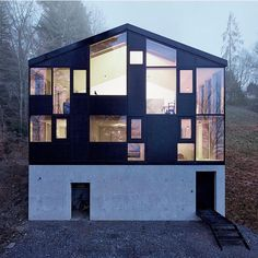 #HausHohlen in Dornbirn, #Austria has these well-proportioned windows that maximize views of the Rhine Delta and Lake Constance. Design by architect #JolenSpecht \\\ Photo by #AdolfBereuter
