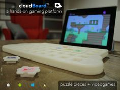 cloudBoard by Digital Dream Labs — Interactive video game and keyboard aimed at 4 to 12 yr olds to teach kids about computer science. It teaches concepts by using blocks that control the video game characters. Kids Computer, Best Computer, Computer Science, Fun Games, Games For Kids, Apple Web, Teaching Technology, Tech Toys, Play To Learn