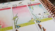 Plan With Me - Erin Condren Life Planner Week 34 ♡ 2016 Timelapse