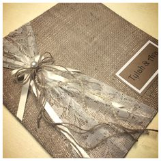 Rustic wedding guest books, in many colours